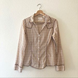Western style plaid button up